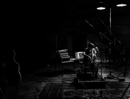 Bach recording in Teldex Studio, Berlin